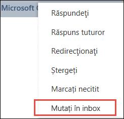 Mutare în Inbox
