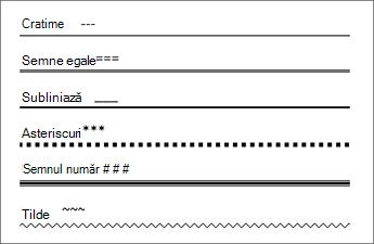 Tabel de linii care tastând anumite caractere de 3 ori creați