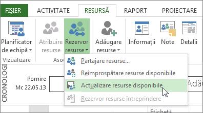 Actualizarea resurselor disponibile după editarea resurselor dintr-un fișier partajor