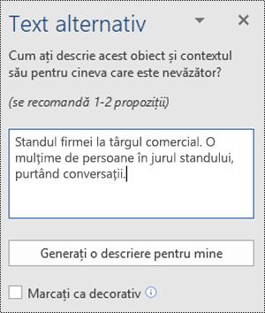 Caseta de dialog Text alternativ din Word pentru Windows