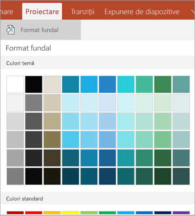 Culori de fundal