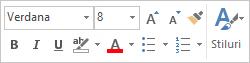 Minibara de instrumente pentru formatarea textului mesajului