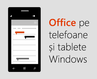 Faceți clic pentru a configura aplicațiile mobile Office pe un dispozitiv Windows 10