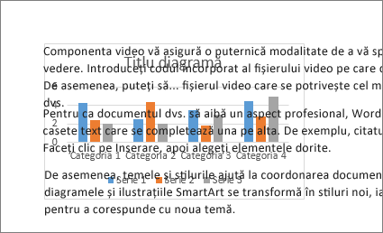 Un exemplu de diagramă în spatele unui bloc de text