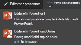 Editarea în PowerPoint online