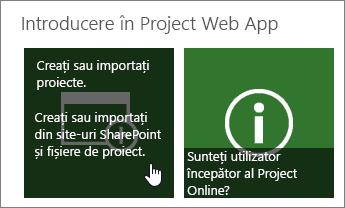 Creați sau importați proiecte