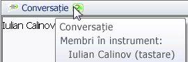 Fereastră pop-up de notificare pentru discuții