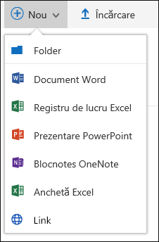 Office 365 creați un folder nou sau un document