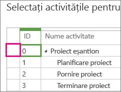 MT04 - selectați activitate