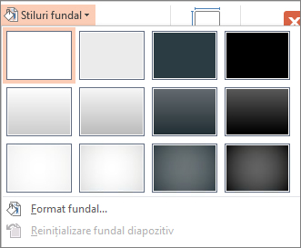 Stilurile de fundal PowerPoint