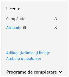Butonul de programe de completare utilizat pentru a achiziționa programe de completare.