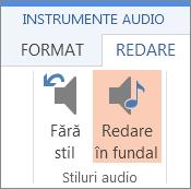 Redați muzică în fundal