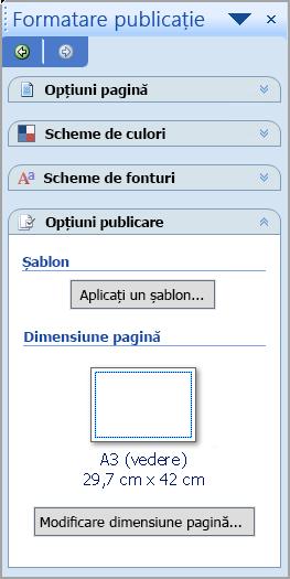 Format de publicare