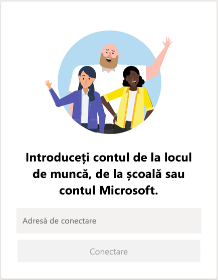 Conectarea la Microsoft Teams