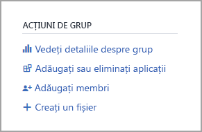 Linkul Detalii despre grup