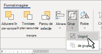 Butonul grupare sub format imagine