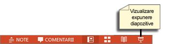 Butonul Vizualizare expunere de diapozitive
