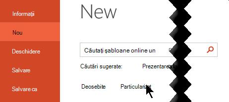 Sub fișier > nou, selectați opțiunea particularizat pentru a vedea șabloanele personale