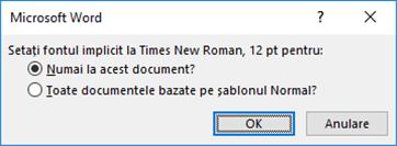 Selectați domeniul pentru care doriți ca acest font să fie implicit.