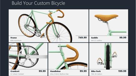 Imagine conceptuală a unui șablon de catalog 3D