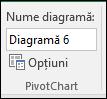 Redenumirea unui raport PivotTable din instrumente PivotTable > Analiză > nume PivotTable