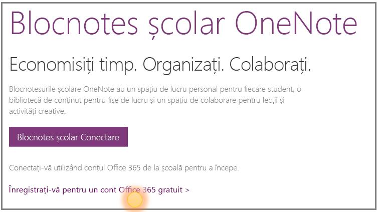 Captură de ecran pentru obținerea unui cont Office 365 gratuit.