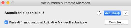 Fereastra de actualizare automată Microsoft atunci când sunt disponibile actualizări.