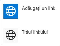 Vizualizare compactă de linkuri rapide