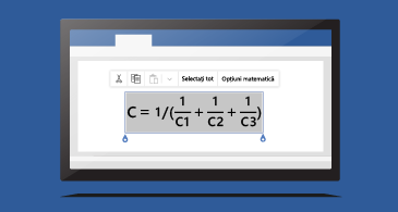 Ecuație într-un document