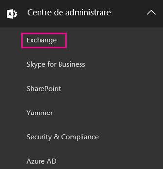Accesați Centrul de administrare Exchange.