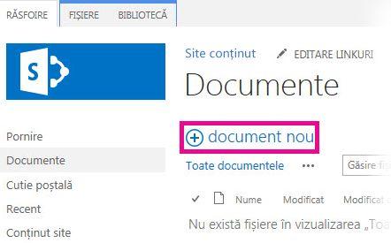 Faceți clic pe Adăugare pentru a glisa fișierele în bibliotecă