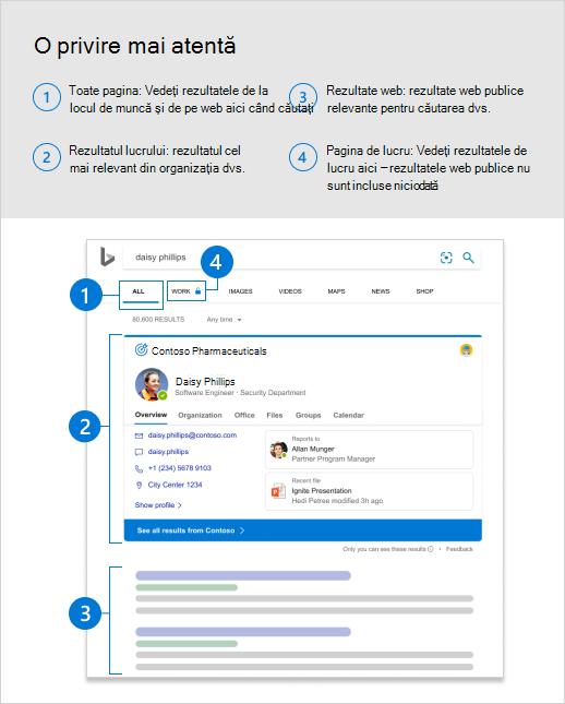 Captură de ecran cu pagina toate rezultatele, cu explicații care identifică rezultatele de lucru.