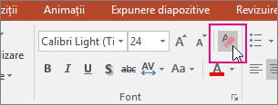 Pictograma Anulare totală formate este evidențiată pe fila Pornire