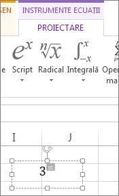 Tastare în caseta de formatare ca exponent