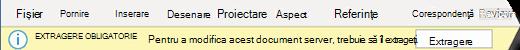 Bara galbenă are un buton pentru a-l face mai simplu să verifice fișierul pentru editare.