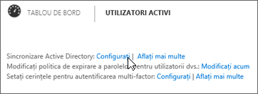 Alegeți Configurare lângă sincronizarea Active Directory