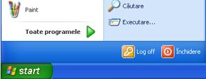 Butonul Windows XP Start și comanda executare