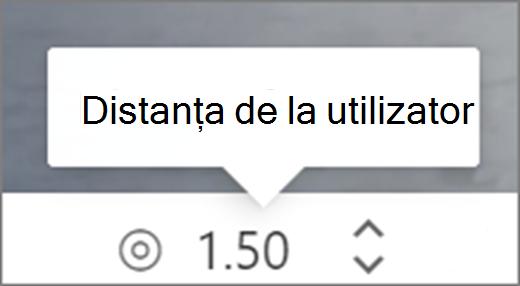 Distanță de la interfața utilizator