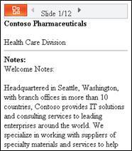 Vizualizarea Schiță din vizualizatorul mobil pentru PowerPoint
