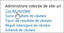 Setări sub titlu Administrator colecție de site-uri cu reciclare evidențiată