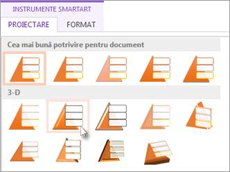 Aplicarea unui stil SmartArt