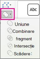 Merge Shapes menu