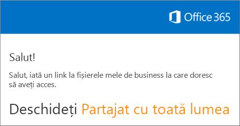 Deschideți mesajul de e-mail și faceți clic pe Deschidere site web.