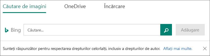 Inserare imagine opțiuni pentru Microsoft Forms
