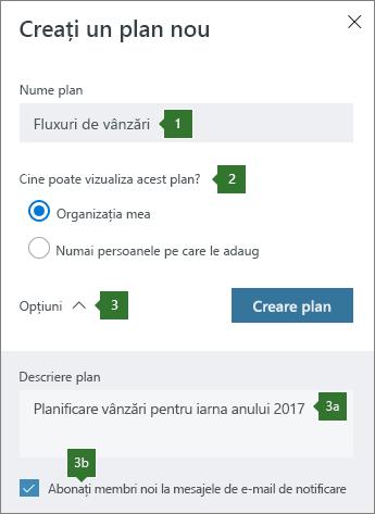Creați un plan nou
