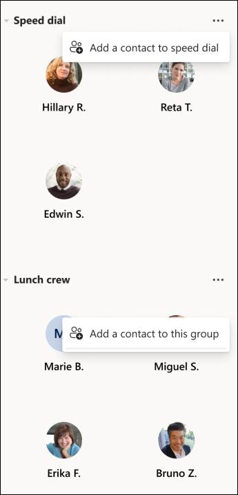 Teams-contact groups