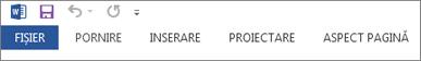 Panglica restrânsă, care afișează doar filele