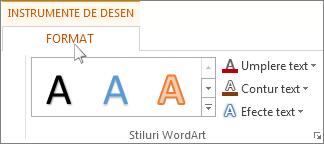 Filele Format și Instrumente de desen