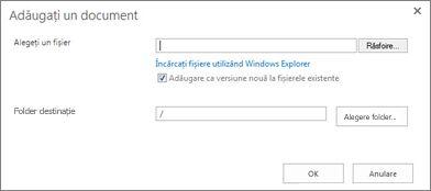 Încărcarea cu Windows Explorer
