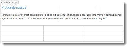 Tabel în site-ul web SharePoint Online